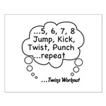 The Twins Workout Small Poster