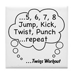 The Twins Workout Tile Coaster