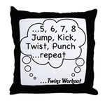 The Twins Workout Throw Pillow