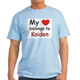 My heart belongs to kaiden Ash Grey T-Shirt