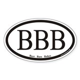 Beer Bass Babes BBB Euro Oval Decal