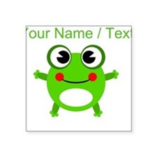 Custom Cartoon Frog Sticker