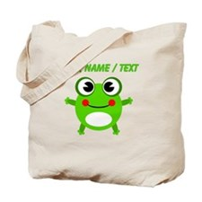 Custom Cartoon Frog Tote Bag