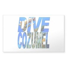 Dive Cozumel Rectangle Decal