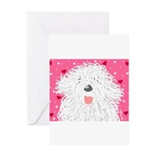Heart Sheepdo Greeting Cards