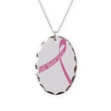 one tough chick on ribbon Necklace Oval Charm