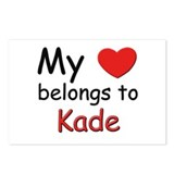 My heart belongs to kade Postcards (Package of 8)