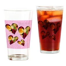 2-roses KEEPSAKE BOX Drinking Glass