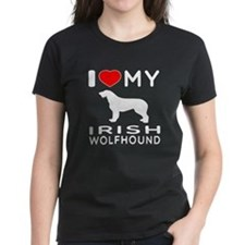 I Love My Irish Wolfhound Tee