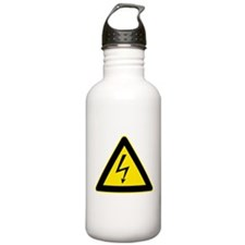 Electricity Warning Sign Water Bottle
