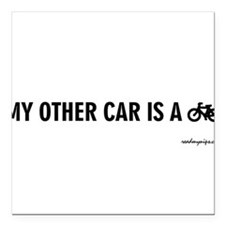 "Unique Biking Square Car Magnet 3"" x 3"""
