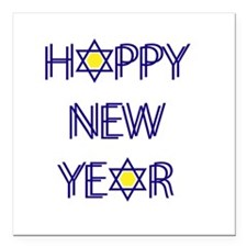 """Happy New Year, Rosh Has Square Car Magnet 3"""" x 3"""""""