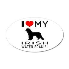 I Love My Irish Water Spaniel 35x21 Oval Wall Deca