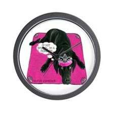 Black Lab Princess Wall Clock