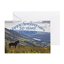 10th Anniversary for husband Greeting Cards