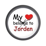 My heart belongs to jorden Wall Clock