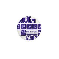 mens_front_shapes_purple Mini Button