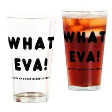 black_whateva_trans Drinking Glass