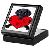 Black Lab Valentine Keepsake Box