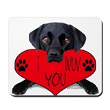 Black Lab Valentine Mousepad