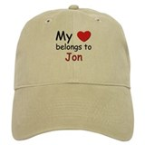My heart belongs to jon Baseball Cap