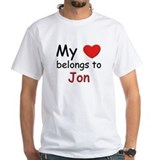 My heart belongs to jon Shirt
