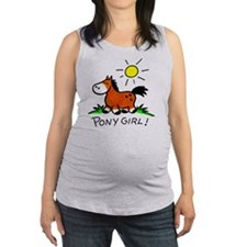 Brown pony Maternity Tank Top
