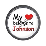 My heart belongs to johnson Wall Clock