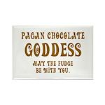 Chocolate Goddess Rectangle Magnet