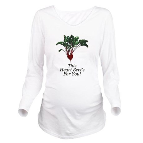 This Heart Beets Long Sleeve Maternity T-Shirt