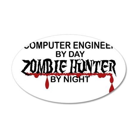 Zombie Hunter - Comp Eng 35x21 Oval Wall Decal