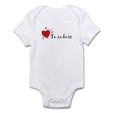 """I Love You"" [Romanian] Infant Bodysuit"