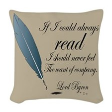 Read Quote Lord Byron Woven Throw Pillow