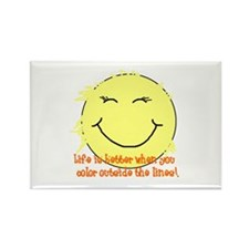 Funny Peace love happiness Rectangle Magnet (10 pack)