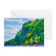 WaipiobeachMousePad Greeting Card