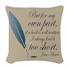 Jane Austen Book Well Written Quote Woven Throw Pi