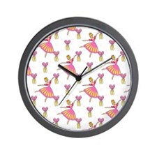 Pink Princess Ballerina Wall Clock