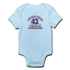 Awesome at 42 birthday designs Infant Bodysuit
