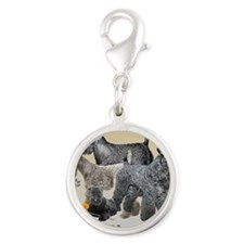 Kerry Blue Terrier  mousepad Silver Round Charm