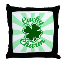 lucky charm Throw Pillow