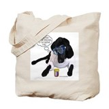 Black Lab Scientist Tote Bag