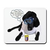 Black Lab Scientist Mousepad
