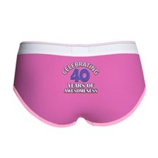 Awesome at 40 birthday designs Women's Boy Brief