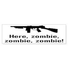 Here Zombie Zombie Zombie Gun Stickers