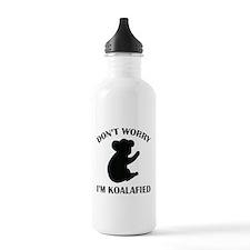Don't Worry I'm Koalafied Water Bottle