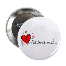 """I Love You"" [Latvian] 2.25"" Button (10 pack)"