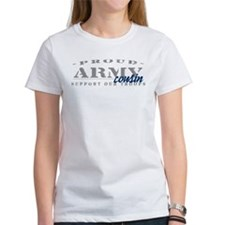 Proud Army Cousin (blue) Tee