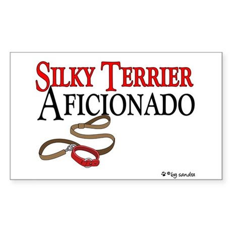 Silky Terrier Aficionado Rectangle Sticker