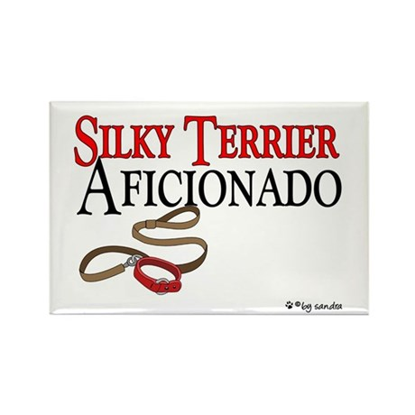 Silky Terrier Aficionado Rectangle Magnet (10 pack