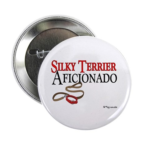 Silky Terrier Aficionado Button